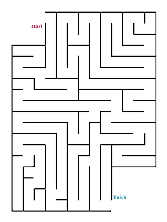 Mazes to Print - Easy Cutout Mazes