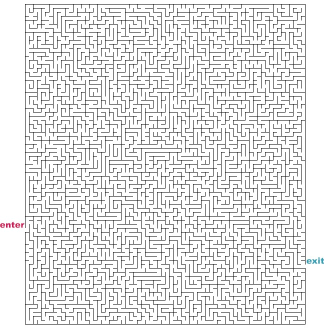 Challenging Printable Mazes to Pin on Pinterest