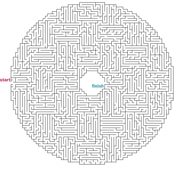 How to draw hard maze