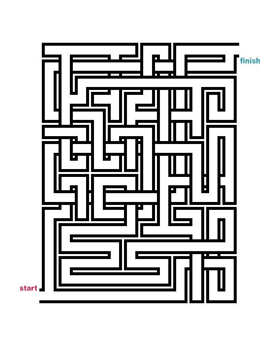 Bright image regarding printable mazes medium