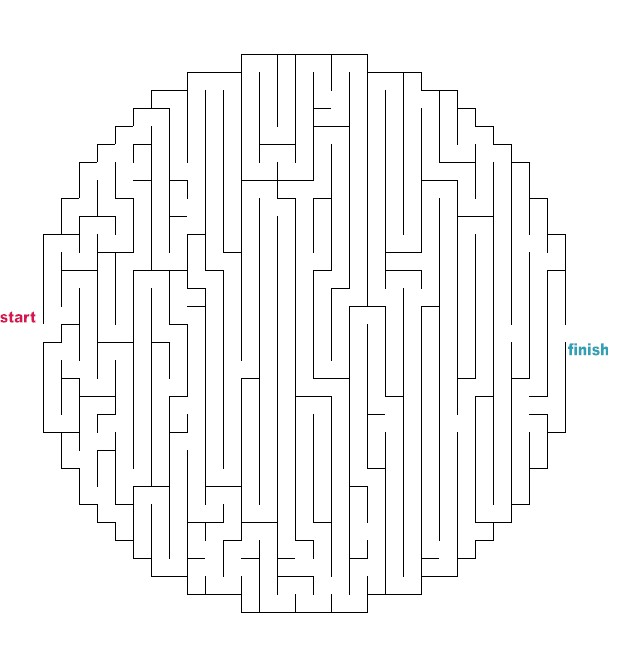 619 x 666 jpeg 48kB, Mazes to Print - Medium Oval/Circle Mazes