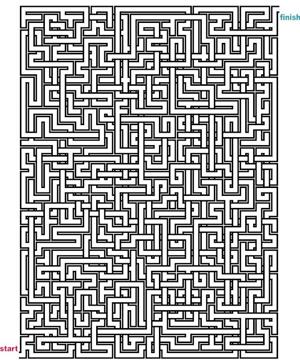Mazes To Print Mega Crossover Mazes